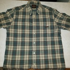 Lucky Brand Dungarees Mens Large Button Down